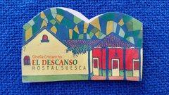 Rock Climbing Photo: Biz card front for Hostal el Descanso.