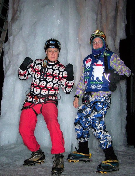 2 ice fools in their best holiday garb.