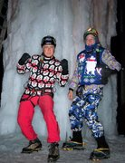 Rock Climbing Photo: 2 ice fools in their best holiday garb.