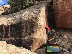 Rock Climbing Photo: Brad near the start of Insidious Theodicy. Utilizi...
