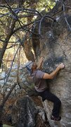 Rock Climbing Photo: Anyone know what this climb is?  It had a lot of d...