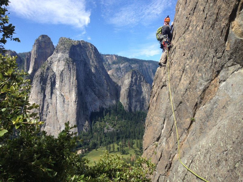Pitch 3 of East Buttress, El Captain, Yosemite
