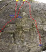 Rock Climbing Photo: John Be Careful The B Bent Over Screaming Blue