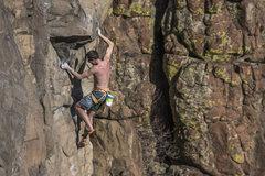 Rock Climbing Photo: Angus puttin 'er down.  Photo: Ben Crawford.