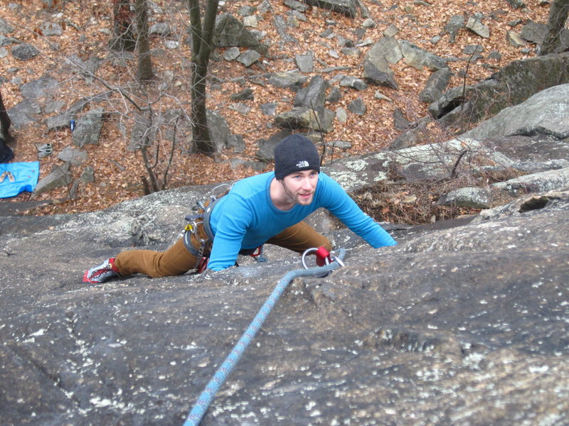 Brother's first time ever following a trad route.