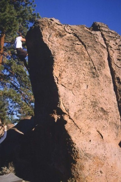 Myself just about to top out on The Thimble Of The High Sierra, circa 2002.