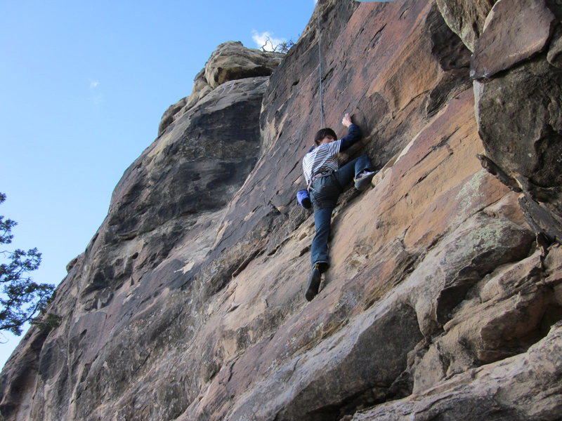 Rock Climbing Photo: Joaquin on an un-named 10a top rope problem