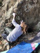 Rock Climbing Photo: Mikael White on start of L.M.K.K.A
