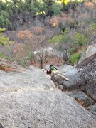 Rock Climbing Photo: Working the third Pitch of Upper Refuse; introduct...
