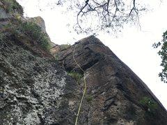 Rock Climbing Photo: Mauricio Herrera Cuadra climbing Spiritchaser.  Ph...