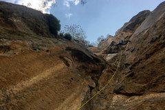 Rock Climbing Photo: Francisco Herrera climbing Camino del Guerrero.  P...