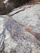Rock Climbing Photo: Looking down at the variation crack.  More pine ne...