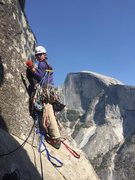 Rock Climbing Photo: Last pitch possibly, half dome in the bathroom