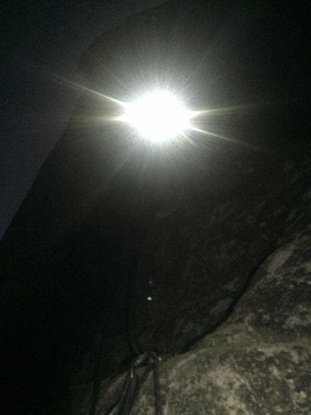 Me heading up p9 in the dark.