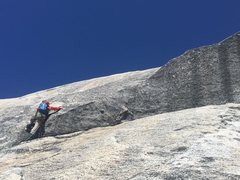 Rock Climbing Photo: Finishing the technical part of halfdome somewhere...