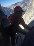 Rock Climbing Photo: After getting off route, we continued forward thro...