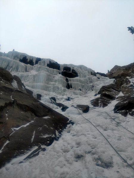 Rock Climbing Photo: Silverplume Falls, 12-28-16.