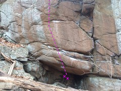 Rock Climbing Photo: The view from the red trail.