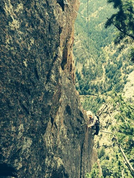 Rock Climbing Photo: Exposed on Rebuffat's Arete.