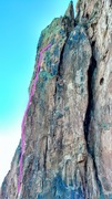 Rock Climbing Photo: Toprope set up on End of an Era. The bolts are ali...