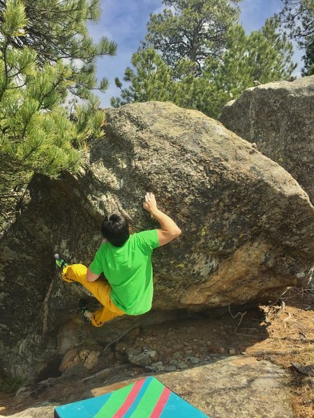 Rock Climbing Photo: Small crystal pinching