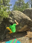 Rock Climbing Photo: Small crystal pinching