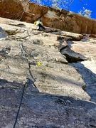 Rock Climbing Photo: Midway up Cinnamon Boys at Jamestown, AL.