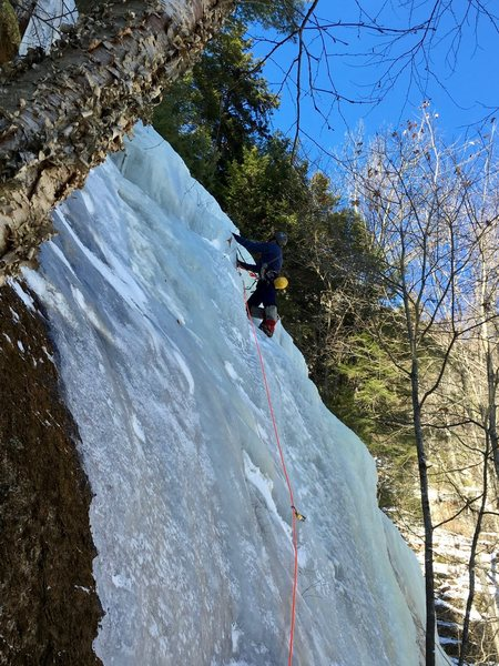 """RH on the """"Guide's Wall"""" Ice"""