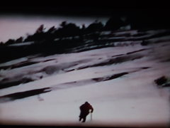 Rock Climbing Photo: Lower Slabs, Whitehorse, winter 1967 (from Super 8...