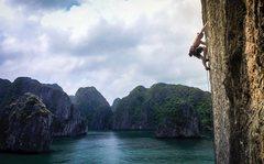 Rock Climbing Photo: Calvin climbing on The Face