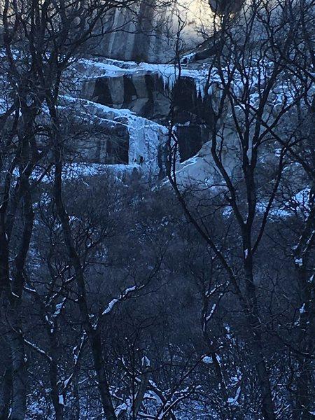 Rock Climbing Photo: cold duck