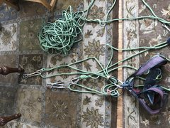 Rock Climbing Photo: Texas Two Step Rope Trick