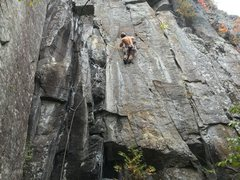 Rock Climbing Photo: Right below the crux