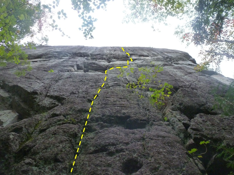 Rock Climbing Photo: Not a great photo but it shows the line