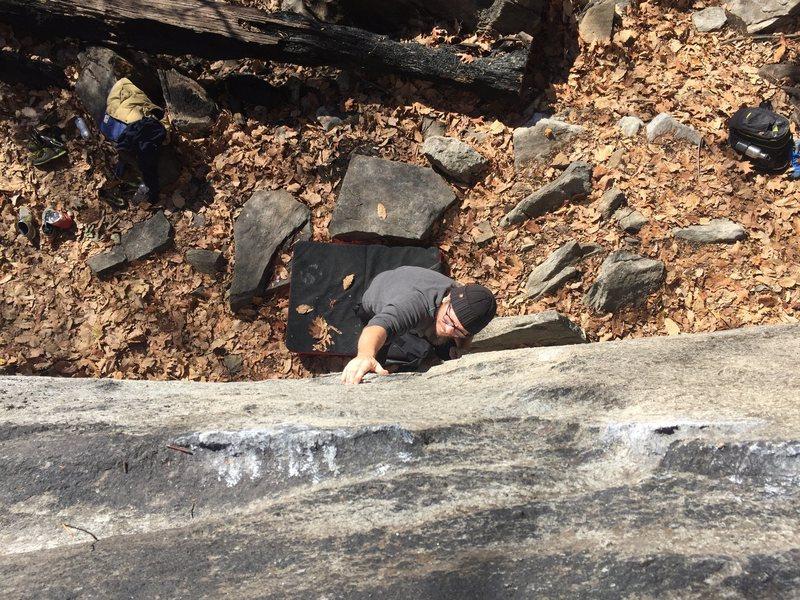 Rock Climbing Photo: Chris making moves
