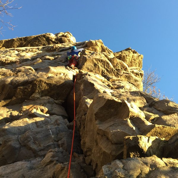 "Rock Climbing Photo: First lead ""Face the Notch"" at Annapolis..."