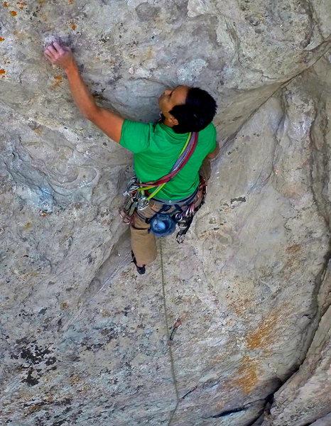 Rock Climbing Photo: Lower Bolt route 10b/c