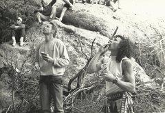 Rock Climbing Photo: Attitude Wall 1991 Peter Hayes Mike Gardino aka th...