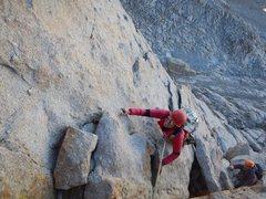 Rock Climbing Photo: Girlfriend and buddy somewhere around pitch 6 of t...