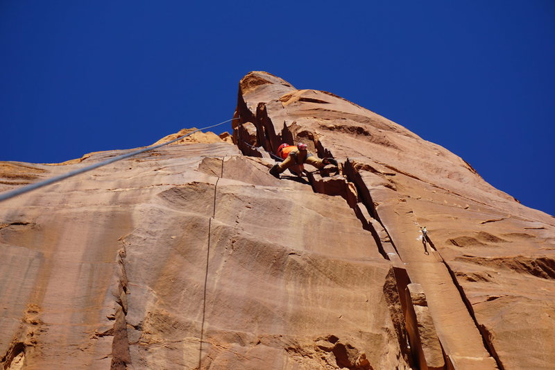 Rock Climbing Photo: Mike Patz cruising the new line.