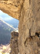 Rock Climbing Photo: Tackling the Crux