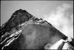 Rock Climbing Photo: Christian Baird above the crux on the second pitch...
