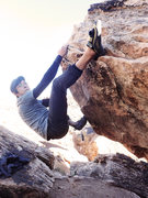 Rock Climbing Photo: Hajime on Underboy