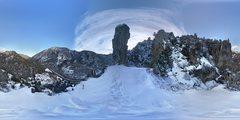 360 degree panoramic near the pinnacle.