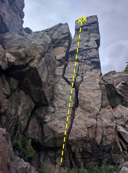 Rock Climbing Photo: Showing the route and the bolts.