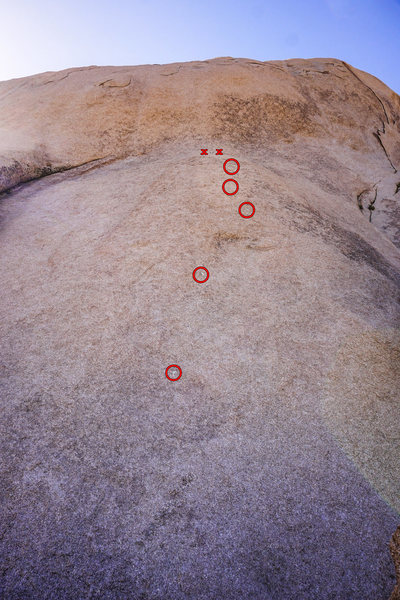 Rock Climbing Photo: Unknown 5.9 on Dali Dome. This is the first route ...