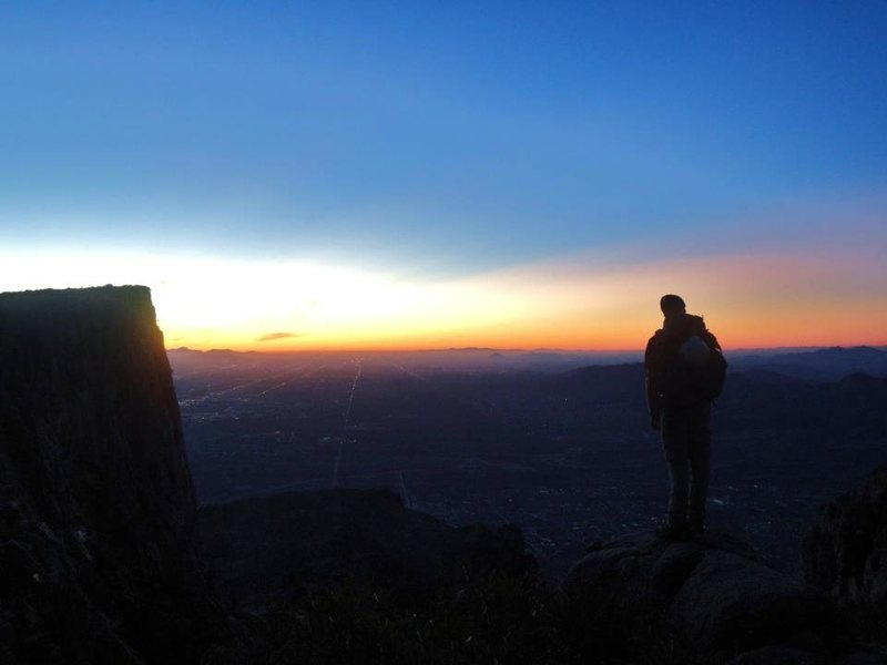 Rock Climbing Photo: PHX from Superstition Mountains