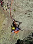 Rock Climbing Photo:  Isa follows Soler.  Devils Tower