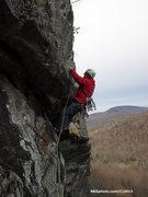Rock Climbing Photo: FA of Dirty Deeds 9+