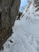 Rock Climbing Photo: Looking up at a group above, just before the real ...